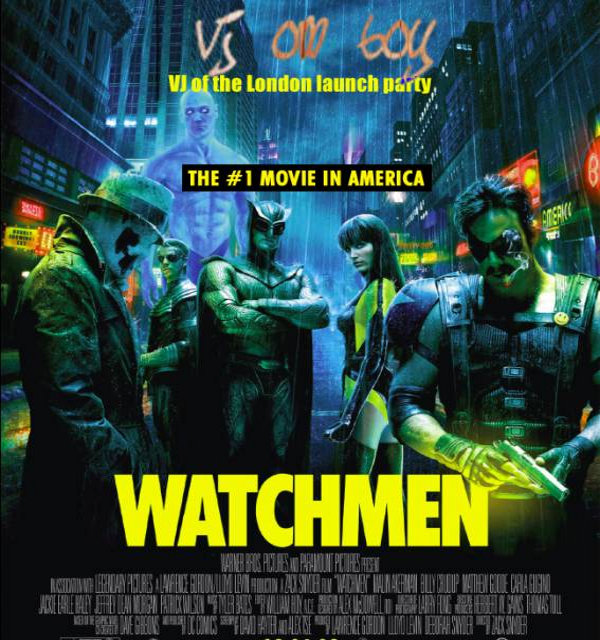 Watchmen movie launch by Secret Cinema: Live VJing by VJ Om Boy (Coco Ding Ding)